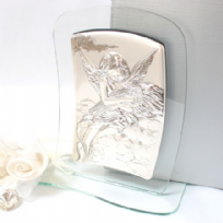 Real Silver Angel In The Clouds Plaque